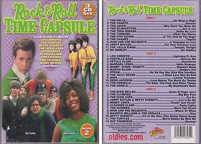 60S ROCK & ROLL TIME CAPSULE Vol  2 Various Artists 2010 New Sealed 3 CD  Oldies