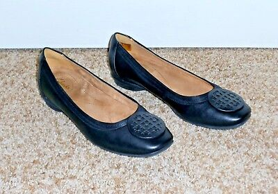04fe75e7f79b Clarks artisan black leather ballet flats womens shoes Candra blush size  6.5M