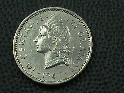 DOMINICAN  10 Centavos  1967  ALMOST  UNC  ,  $ 2.99  maximum  shipping  in  USA