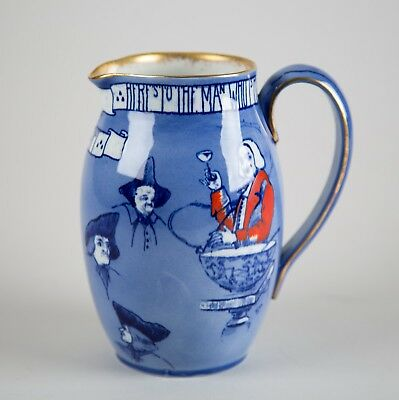 Antique Royal Doulton Toasting Mottoes 'A' Seriesware Tavern Pitcher Jug c. 1903