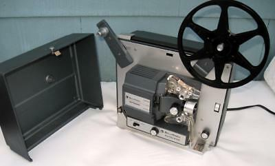 "Vintage Bell & Howell Model 357 B  8mm Autoload Projector aluminum body 1"" f 1.6"