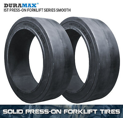 18x7x12-1/8 Duramax IST Smooth Solid Press On Forklift Tire (2 Tires)