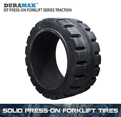 18x8x12-1/8 Duramax IST Traction Solid Press On Forklift Tire (1 Tire)
