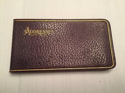 "Vintage 1930s Leather Address Book, Mint Condition, Made In USA  5"" X 2.75"""