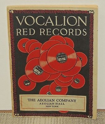 1924 Vocalion Red Records Catalog, the Aeolian Company, 78 rpm