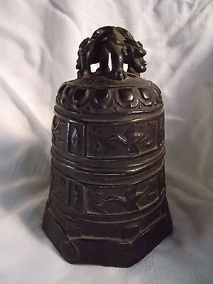Antique Chinese Archaic Bronze Temple Bell