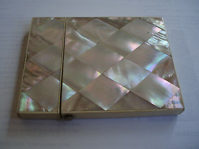Antique Card Case Mother of Pearl circa 1890.