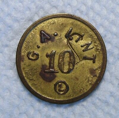 Uhrichsville, OH Token. G.A. Lint. 10c Ingle System. Tuscarawas Co. Ohio.