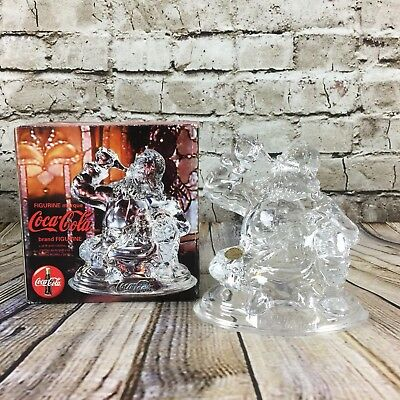 "Coca Cola Santa Claus Glass Marque Figurine 24% Lead Crystal 5"" Tall New In Box"