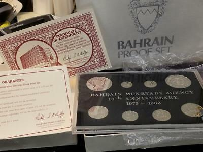 Bahrain 1973 to 1983 Sterling Silver Commemorative Proof Set 1403