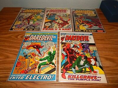 "KEY RUN LOT Of 5 Bronze Age Comics ""Daredevil #'s 87,88,89,90 & 91 FN Avg. Cd."