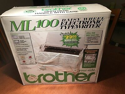 Brother ML100 electric typewriter - New in box With International Daisywheel