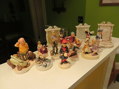 SEBASTIAN MINIATURES FIGURINES LOT OF 100+  Vintage Many Signed And Book NR