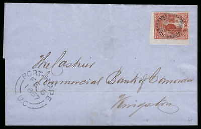 Canada Scott 4d Gibbons 18 on Cover