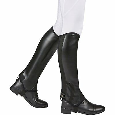 Saxon Childs Syntovia Half Kids Footwear Chaps - Black All Sizes