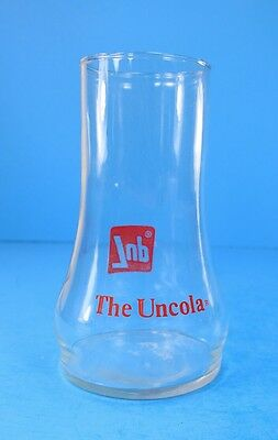 """VTG 7Up the Uncola Soda Glass Upside Down  Advertising Red Logos Decals """"BELL"""""""