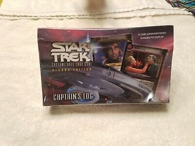 SEALED Decipher Star Trek CCG Second Edition Captain's Log Booster Box STCCG 2E