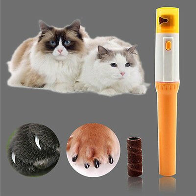 Pet Cat Nail Clipper Pedi Painless Dog Cat Paw Electric Nail Trimmer Cut UKY,fr