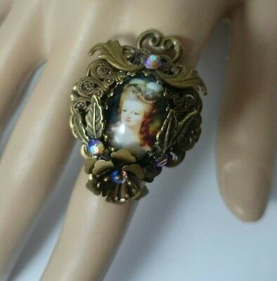 Unique stunning Marie Antoinette Vintage Victorian Edwardian style inspired ring