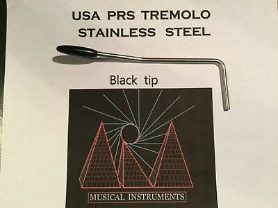 PRS Stainless steel Tremolo arm , wammy bar , Hand made  (Black TIP,)