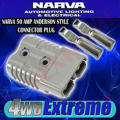 Genuine Narva 50 Amp Connector Plug 50A Fridge Dual Battery Anderson Style