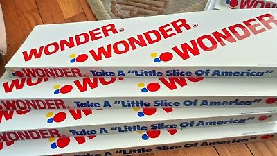 LOT of 8 Vintage Wonder Bread Grocery Store Sign Shelf Liner sign bakery NOS old