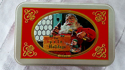 Norman Rockwell Christmas Special Tin Nostalgic Santa Playing Cards collectible