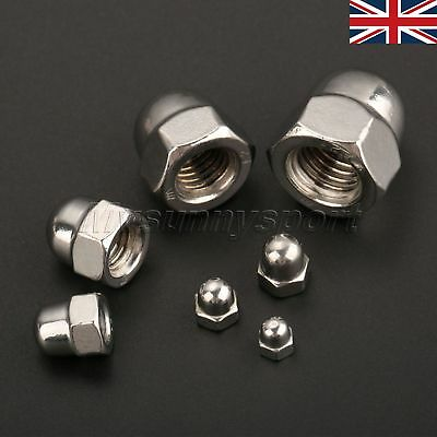 10× High Quality Stainless Steel Hex Domed Nut Acorn Cap Nuts M3-M12 Machine Kit