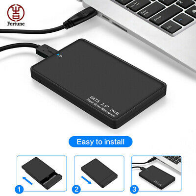 "USB 3.0 Enclosure 2.5"" External SATA Hard Drive Mobile Disk HDD/SSD Case New"