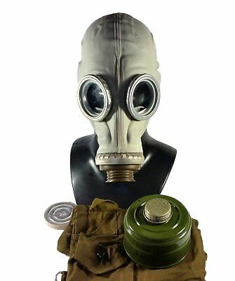 Soviet russian military Gas mask GP-5. Grey rubber Full set. Size - LARGE New