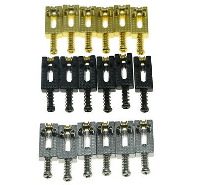 6 Electric Guitar Tremolo Bridge Roller Saddles Bridge Saddle Set for Strat/Tele