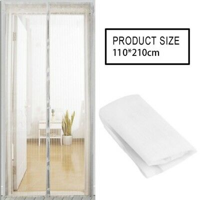 Black/White Magnetic Insect Door Mesh Net Screen for Bug Mosquito Fly Curtain QW