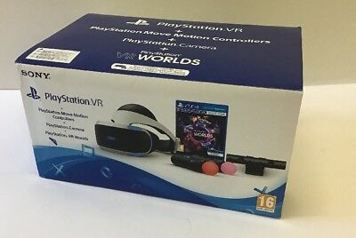PlayStation VR für PS4 + Spiel VR Worlds + PS4 Kamera + PS MOVE Twin Pack (R9/