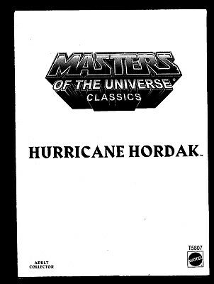 Masters of the Universe Classics Hurricane Hordak T5807 (2011)