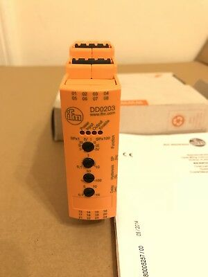 ifm electronic DD0203 D200/FR1A 110-240VAC 24VDC Speed Monitor IFM