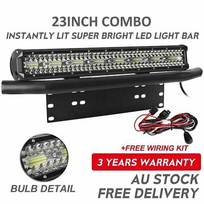 23 inch 1600W CREE LED Light Bar Combo + 23'' Number Plate Frame Mount Bracket