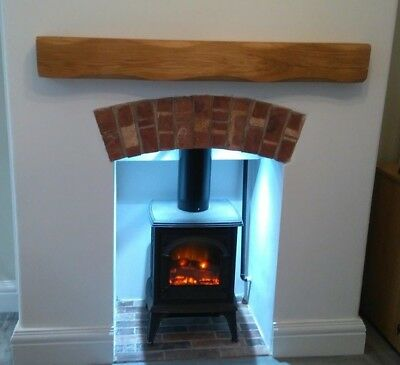 Floating Oak Beam Mantle Piece Shelf Fireplace Mantelpiece Lintel Planed Sanded