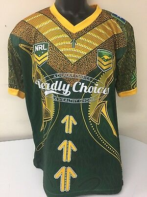 MEDIUM Australian rugby league indigenous shirt #17 Deadly choices
