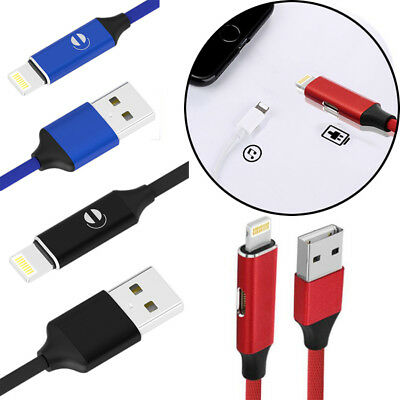 Charging Audio Dual Cable 2in1 Lightning Adapter Cord for iPhone 7 8 X Useful