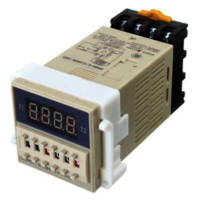 2X(AC 220V 5A Programmable Double Time Timer Delay Relay Device Tool DH48S-U6Z5)
