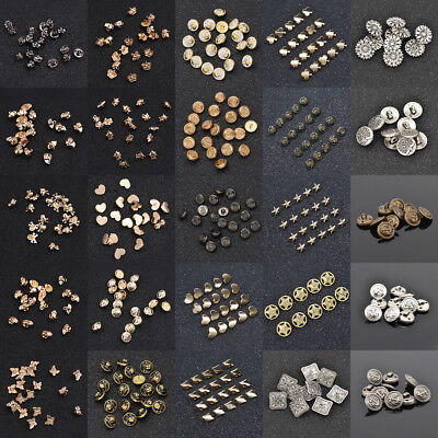 Vintage Antique Buttons Lot Rhinestone Alloy Plastic Metal Clothes Sewing Craft
