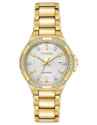Citizen Eco-Drive Women's EW2462-51A Riva Diamond Gold-Tone 30mm Watch