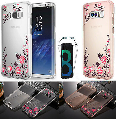 For Samsung Galaxy S8 S9 360° FULL PROTECTION CLEAR THIN Gel Silicone Case Cover