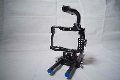 Movcam A7S cage with Riser Block and Base Plate