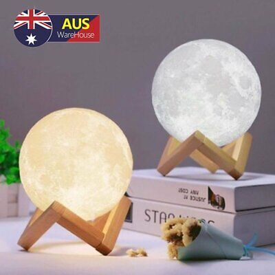 Dimmable 3D Magical Moon Lamp USB LED Night Light Moonlight Touch Sensor Lamp AU