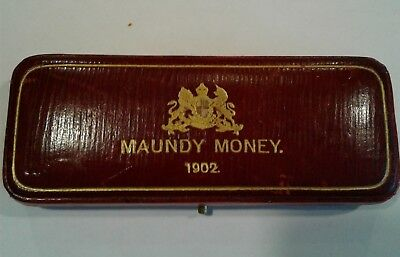 1902 Great Britain 4 Coin Edward VII Maundy Money Set with 1902 Dated Case
