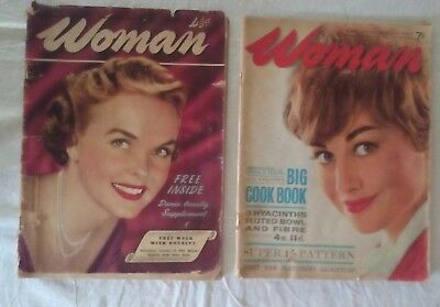 """2 Vintage copies of """"Woman"""" magazine - 1952 and 1962"""