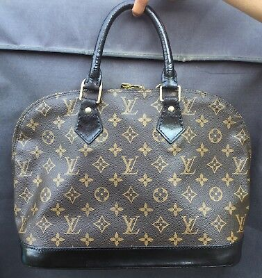 9cb36a01e9 Sac a main Louis Vuitton Alma Monogram Canvas Vintage Authentique Customise