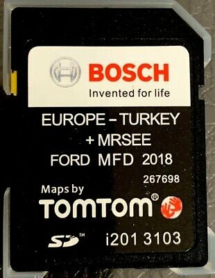 2018-2019 Ford MFD V8 NAVIGATION SD Card FIESTE,FOCUS,B-MAX,C-MAX,TRANSIT MAP