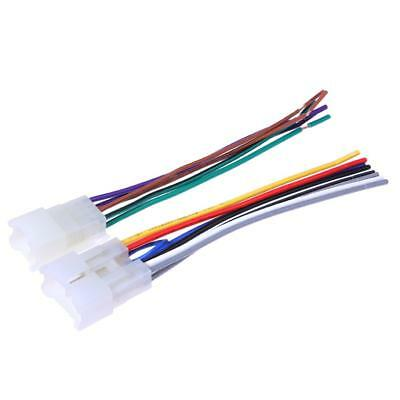 2 PCS Stereo CD Player Radio Wiring Harness Wire Adapter Plugs For Toyota